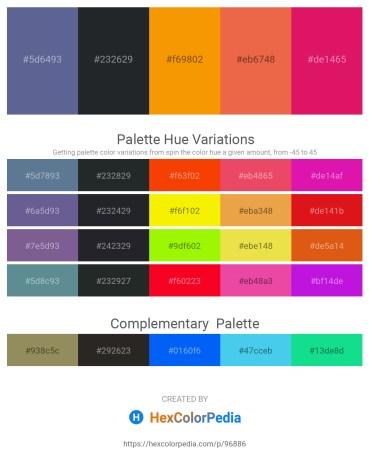 Palette image download - Slate Gray – Dark Slate Gray – Dark Orange – Chocolate – Crimson