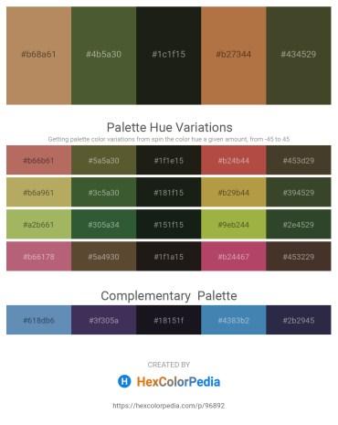 Palette image download - Dark Khaki – Dark Olive Green – Black – Peru – Dark Olive Green