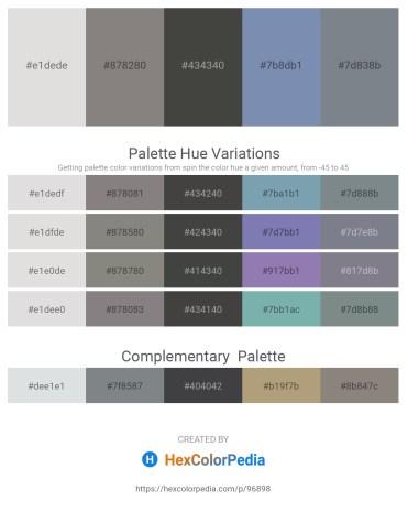 Palette image download - Gainsboro – Gray – Dim Gray – Light Slate Gray – Slate Gray