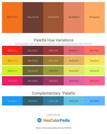 Palette image download - Dark Orange – Slate Gray – Sienna – Dark Salmon – Light Salmon