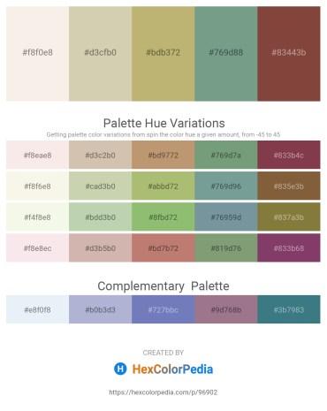 Palette image download - Beige – Tan – Dark Khaki – Cadet Blue – Sienna
