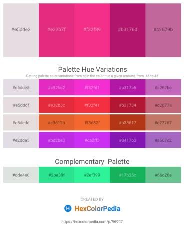 Palette image download - Gainsboro – Medium Violet Red – Deep Pink – Medium Violet Red – Pale Violet Red