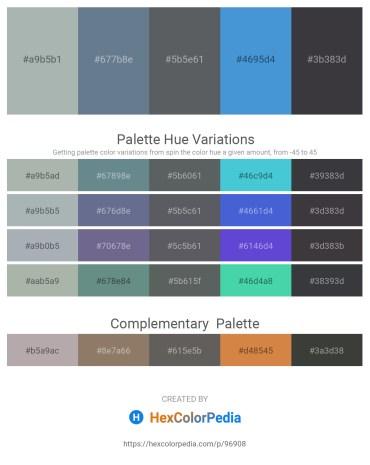 Palette image download - Dark Sea Green – Slate Gray – Slate Gray – Royal Blue – Dark Slate Gray