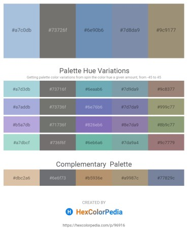 Palette image download - Light Steel Blue – Dim Gray – Cadet Blue – Light Slate Gray – Light Blue