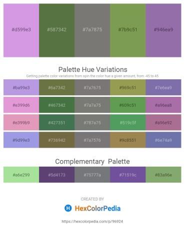 Palette image download - Medium Purple – Dark Olive Green – Gray – Dark Olive Green – Light Slate Gray