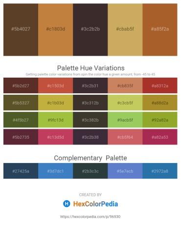 Palette image download - Dim Gray – Peru – Black – Dark Khaki – Sienna