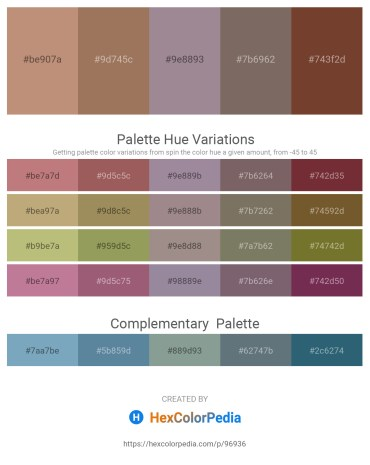 Palette image download - Rosy Brown – Rosy Brown – Gray – Dim Gray – Sienna