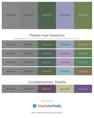 Palette image download - Gray – Gray – Dark Slate Gray – Light Slate Gray – Dark Olive Green
