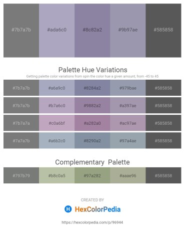 Palette image download - Gray – Light Slate Gray – Light Slate Gray – Light Slate Gray – Dim Gray