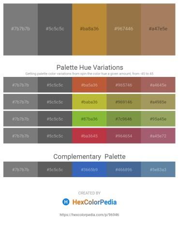Palette image download - Gray – Dim Gray – Peru – Sienna – Rosy Brown