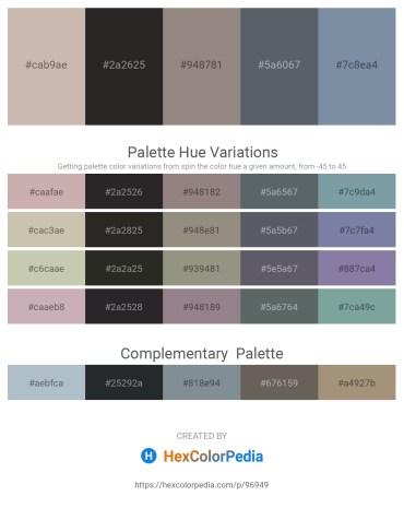 Palette image download - Rosy Brown – Black – Gray – Slate Gray – Light Slate Gray