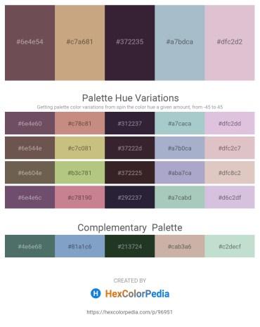 Palette image download - Dim Gray – Tan – Black – Light Steel Blue – Thistle