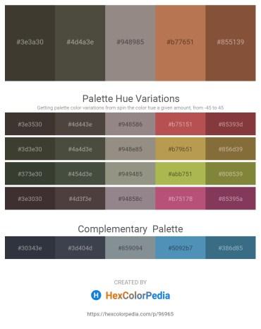 Palette image download - Dark Olive Green – Dim Gray – Gray – Indian Red – Sienna