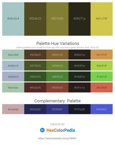 Palette image download - Dark Sea Green – Dark Olive Green – Dark Olive Green – Black – Yellow Green