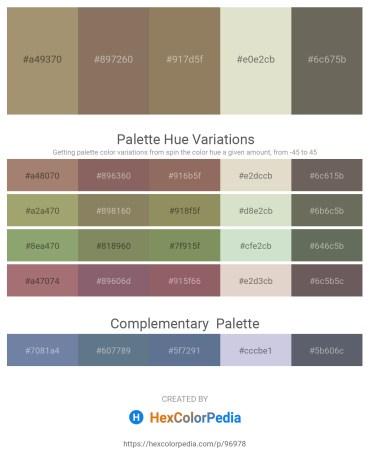 Palette image download - Dark Khaki – Dim Gray – Gray – Beige – Dim Gray