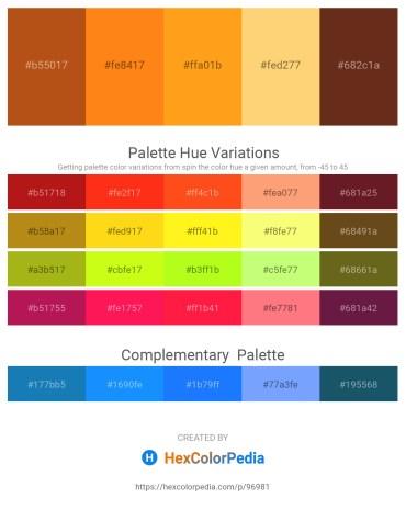 Palette image download - Chocolate – Dark Orange – Orange – Dark Slate Gray – Saddle Brown