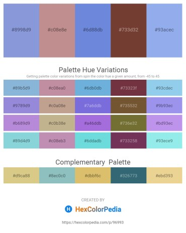 Palette image download - Medium Purple – Rosy Brown – Medium Purple – Sienna – Sky Blue