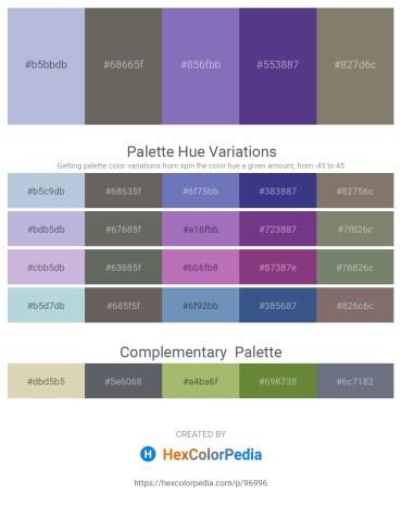 Palette image download - Light Steel Blue – Dim Gray – Slate Blue – Dark Slate Blue – Gray