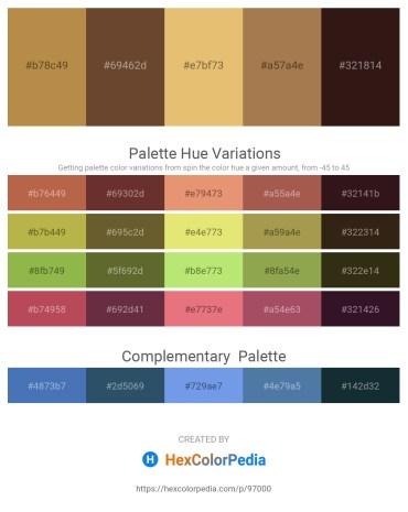 Palette image download - Peru – Olive Drab – Dark Olive Green – Olive Drab – Gray