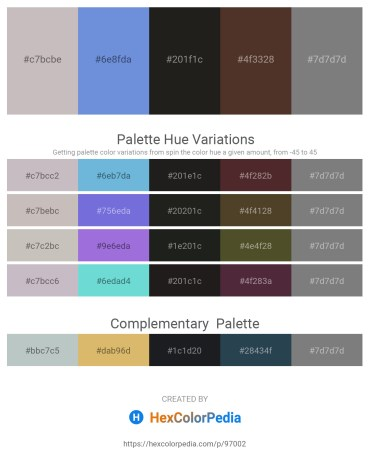 Palette image download - Silver – Medium Purple – Black – Indian Red – Gray