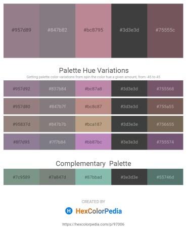 Palette image download - Gray – Gray – Rosy Brown – Dark Slate Gray – Dim Gray