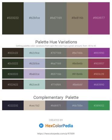 Palette image download - Dark Olive Green – Light Steel Blue – Dim Gray – Gray – Sienna
