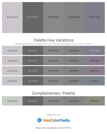 Palette image download - Thistle – Dim Gray – Gray – Gray – Slate Gray