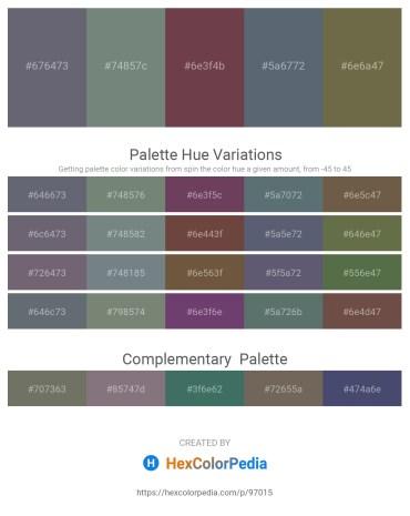 Palette image download - Slate Gray – Slate Gray – Light Steel Blue – Slate Gray – Dark Olive Green