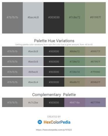 Palette image download - Gray – Light Steel Blue – Black – Dark Sea Green – Dark Sea Green