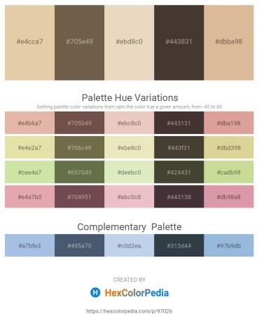 Palette image download - Burlywood – Dim Gray – Beige – Indian Red – Tan