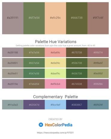 Palette image download - Dark Gray – Dark Olive Green – Wheat – Dark Olive Green – Rosy Brown