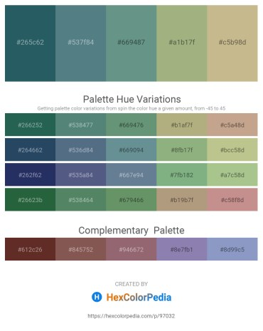 Palette image download - Dark Slate Gray – Cadet Blue – Cadet Blue – Dark Sea Green – Tan