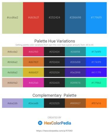 Palette image download - Tan – Firebrick – Black – Steel Blue – Dodger Blue