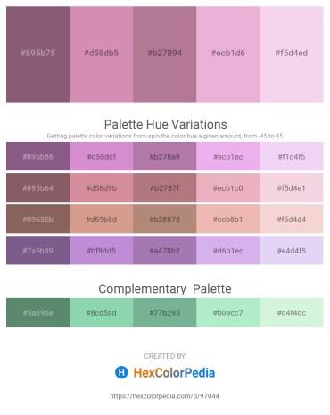 Palette image download - Dim Gray – Plum – Rosy Brown – Plum – Linen