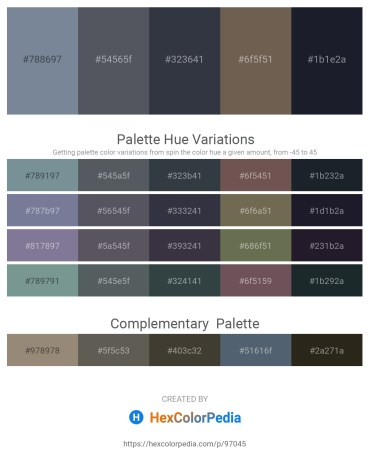 Palette image download - Light Slate Gray – Slate Gray – Dark Slate Gray – Dim Gray – Dark Olive Green