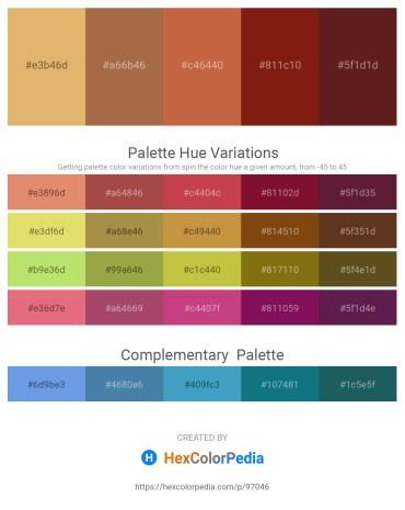 Palette image download - Dark Salmon – Sienna – Peru – Saddle Brown – Brown