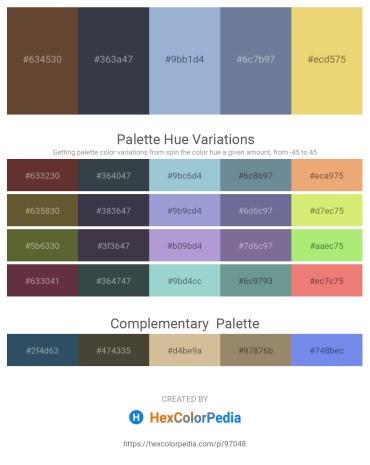 Palette image download - Saddle Brown – Dark Slate Gray – Light Steel Blue – Slate Gray – Khaki