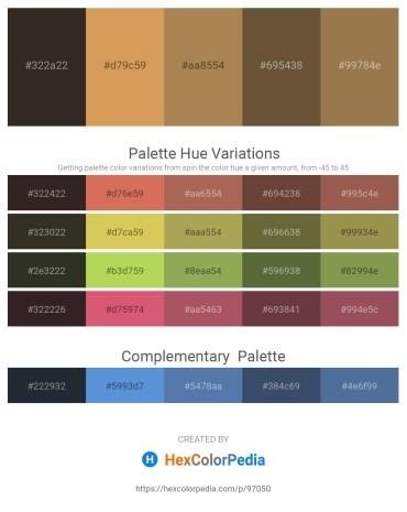Palette image download - Black – Peru – Dark Khaki – Dark Olive Green – Dark Sea Green