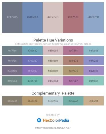 Palette image download - Slate Gray – Dark Olive Green – Thistle – Rosy Brown – Light Steel Blue