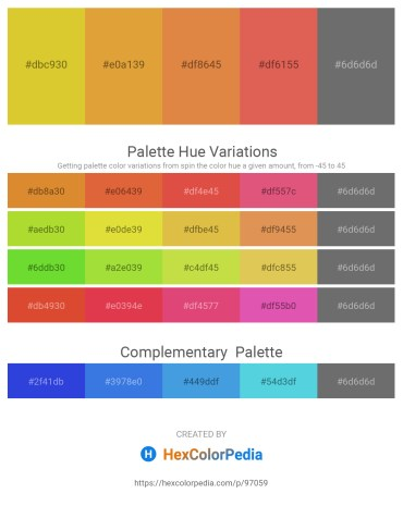 Palette image download - Goldenrod – Goldenrod – Peru – Indian Red – Dim Gray