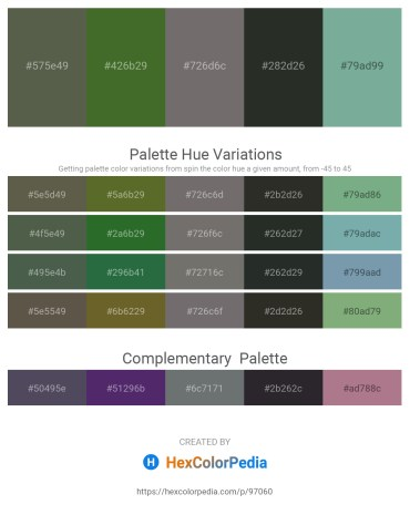 Palette image download - Dark Olive Green – Dark Olive Green – Dim Gray – Dark Slate Gray – Cadet Blue