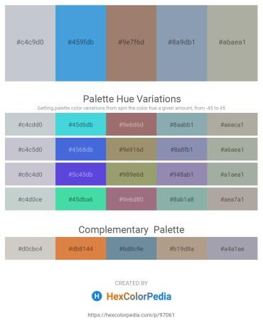 Palette image download - Light Steel Blue – Royal Blue – Rosy Brown – Light Slate Gray – Dark Gray