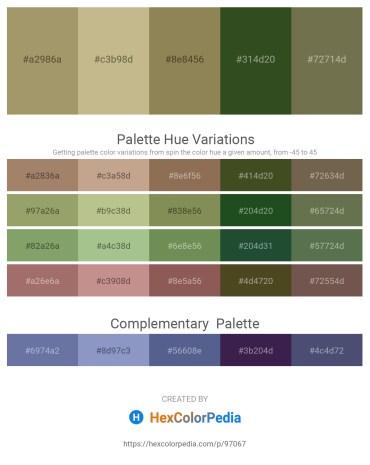 Palette image download - Dark Khaki – Tan – Dark Khaki – Dark Olive Green – Dark Olive Green