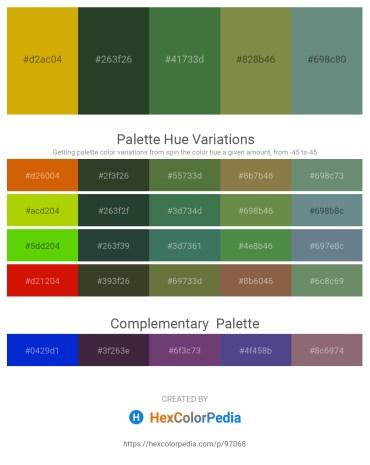 Palette image download - Dark Goldenrod – Dark Slate Gray – Dark Olive Green – Dark Olive Green – Slate Gray