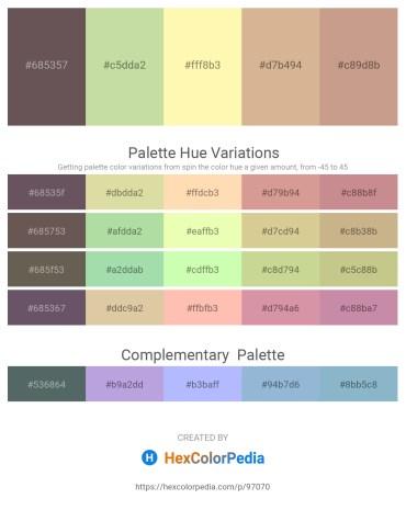 Palette image download - Dim Gray – Rosy Brown – Moccasin – Tan – Tan