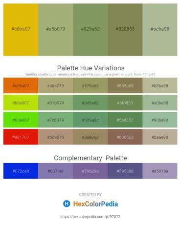 Palette image download - Orange – Dark Khaki – Dark Sea Green – Dark Olive Green – Dark Sea Green