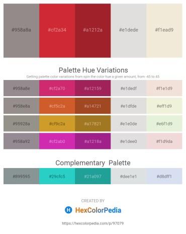 Palette image download - Gray – Firebrick – Firebrick – Gainsboro – Beige