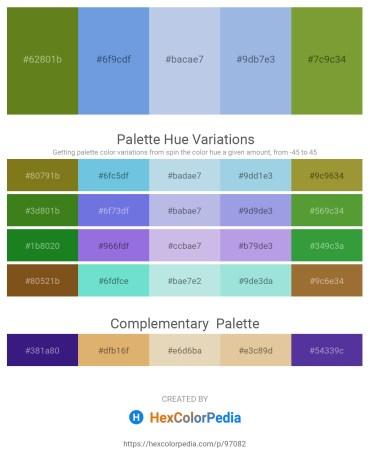 Palette image download - Olive Drab – Cornflower Blue – Light Steel Blue – Light Blue – Olive Drab