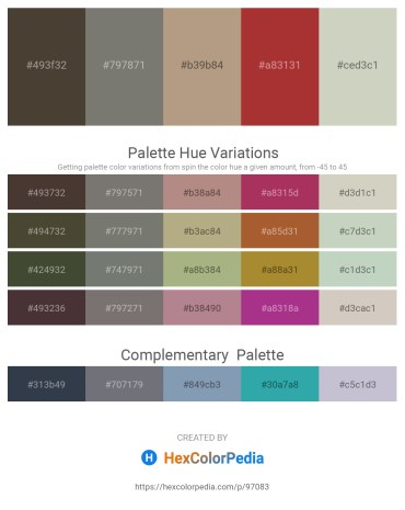 Palette image download - Dark Slate Blue – Gray – Rosy Brown – Brown – Light Gray