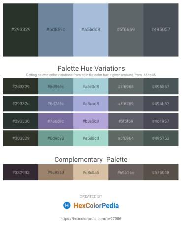 Palette image download - Dark Slate Gray – Light Slate Gray – Light Steel Blue – Slate Gray – Dark Slate Gray